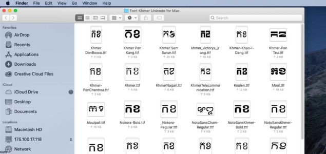 font Khmer Unicode for Mac